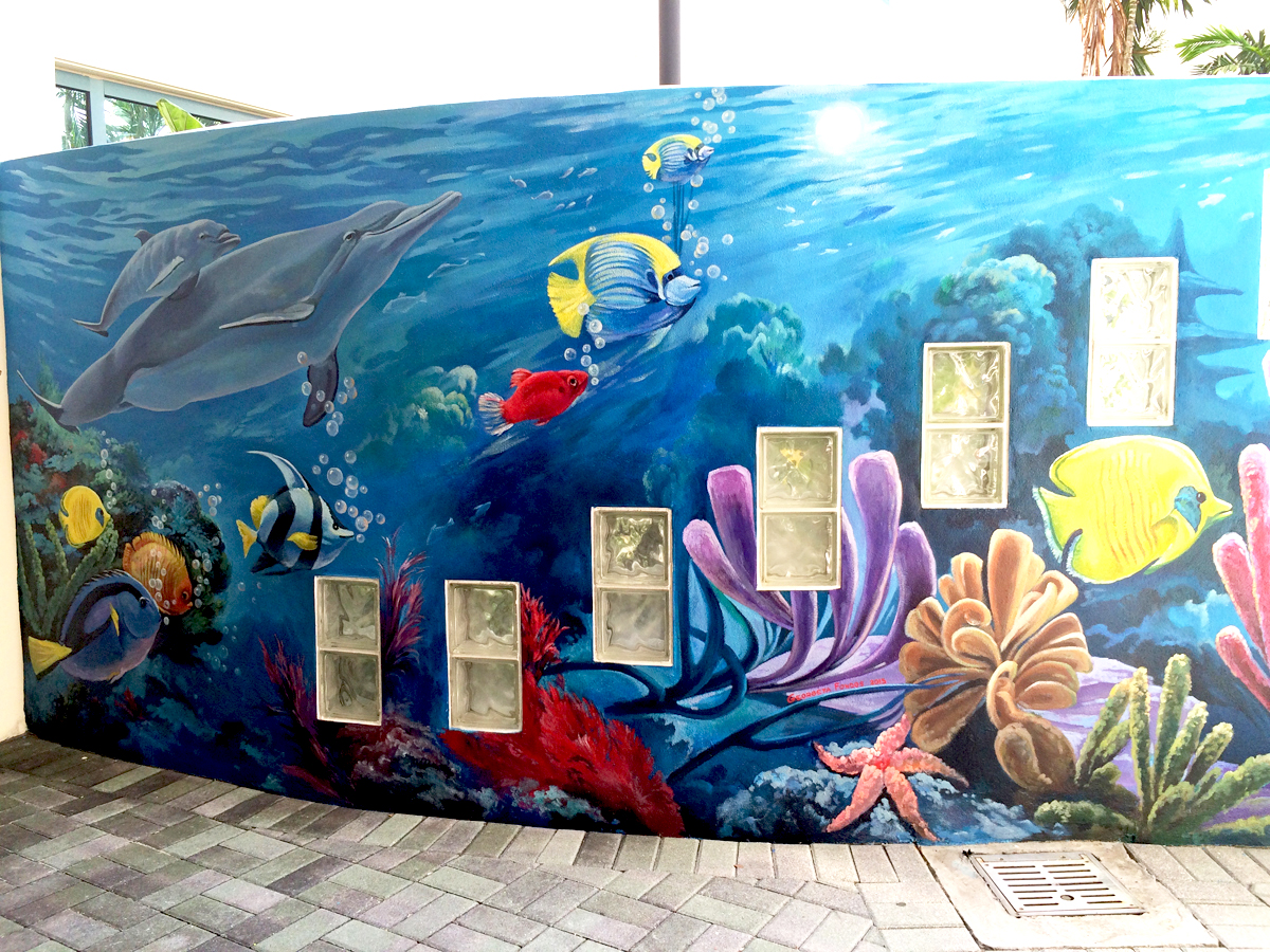 Commercial Murals by South Florida Mural Artist, Georgeta ...