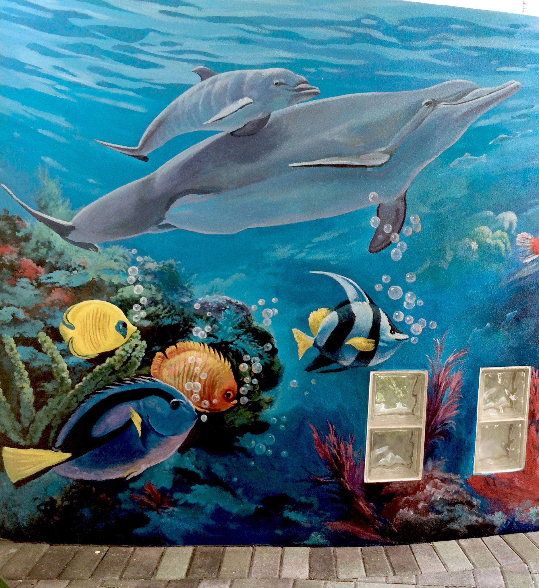 Sea mural 3 underwater mural broward medical center for Commercial mural