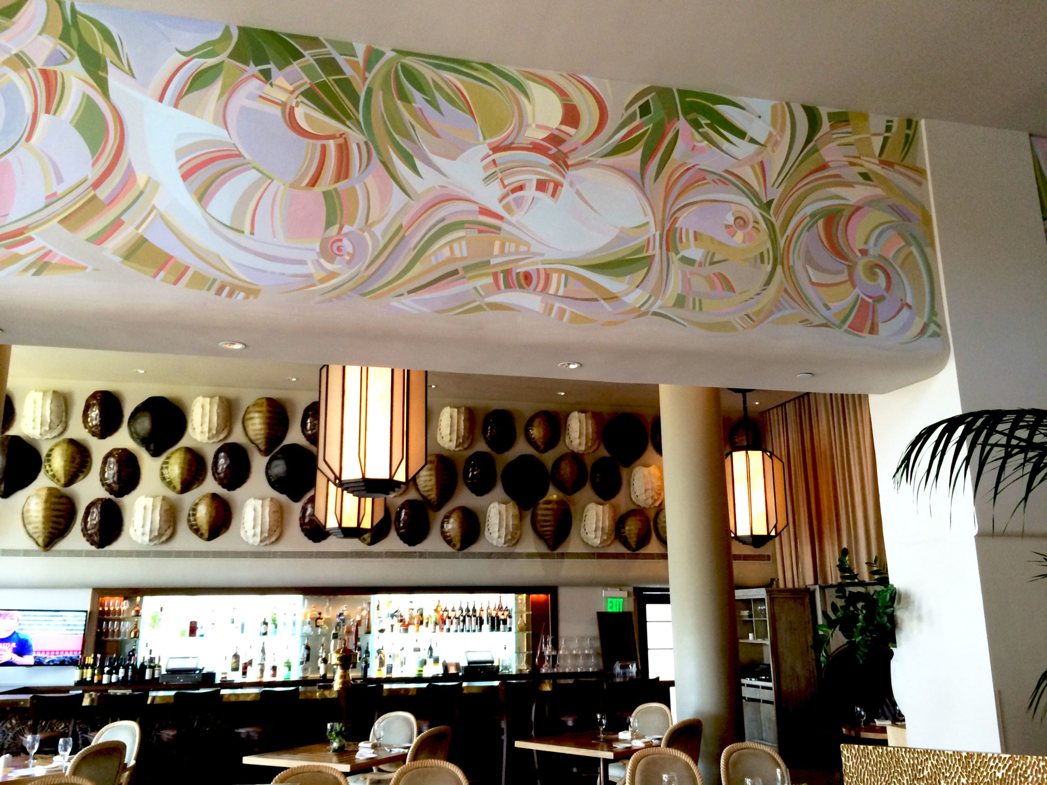 Art deco mural 3 commercial mural tides hotel lobby for Commercial mural painting