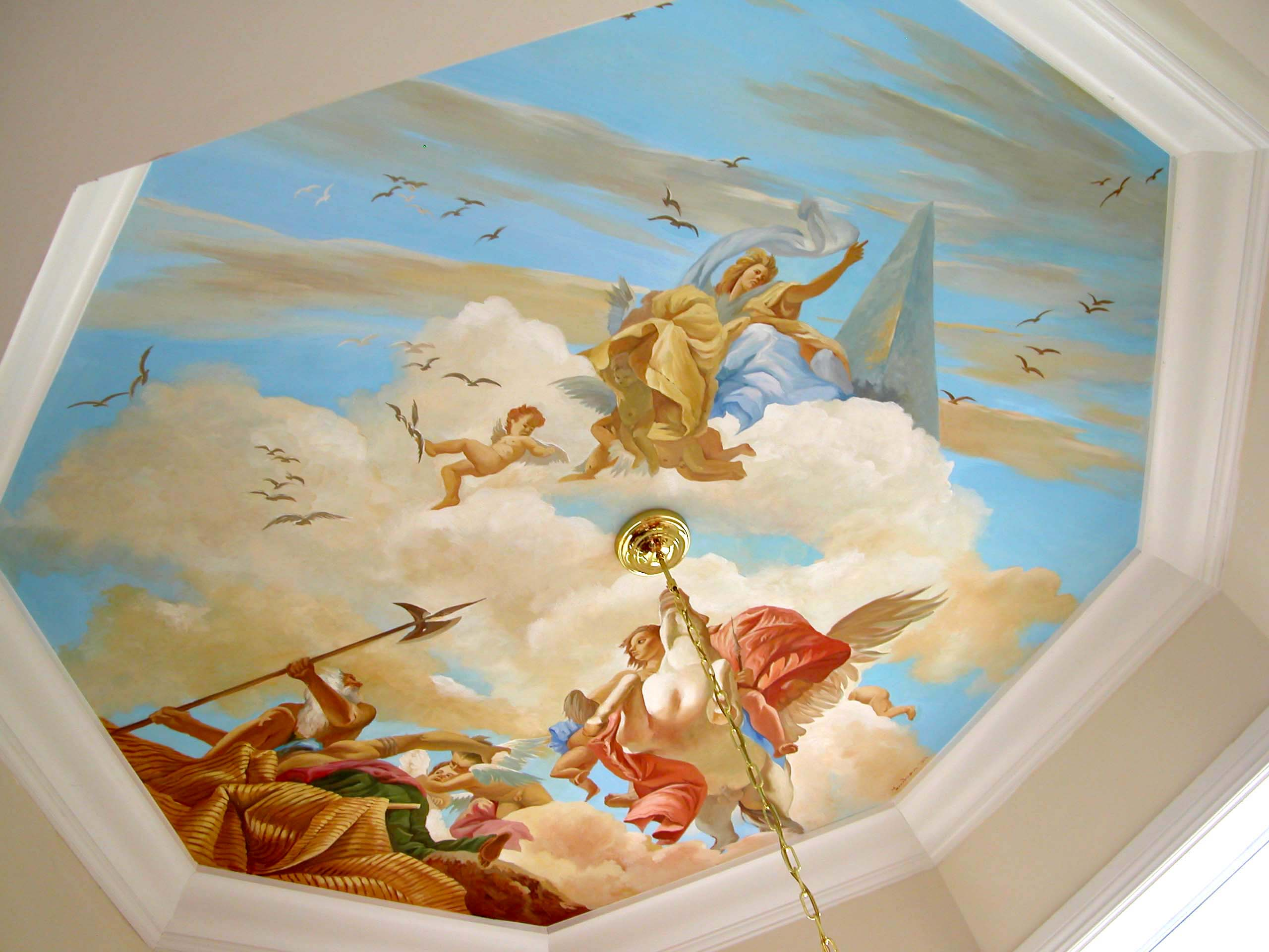 Design Ceiling Mural residential mural inspired by tiepolo ceiling fort in trompe loeil on baroque artists tiepolo