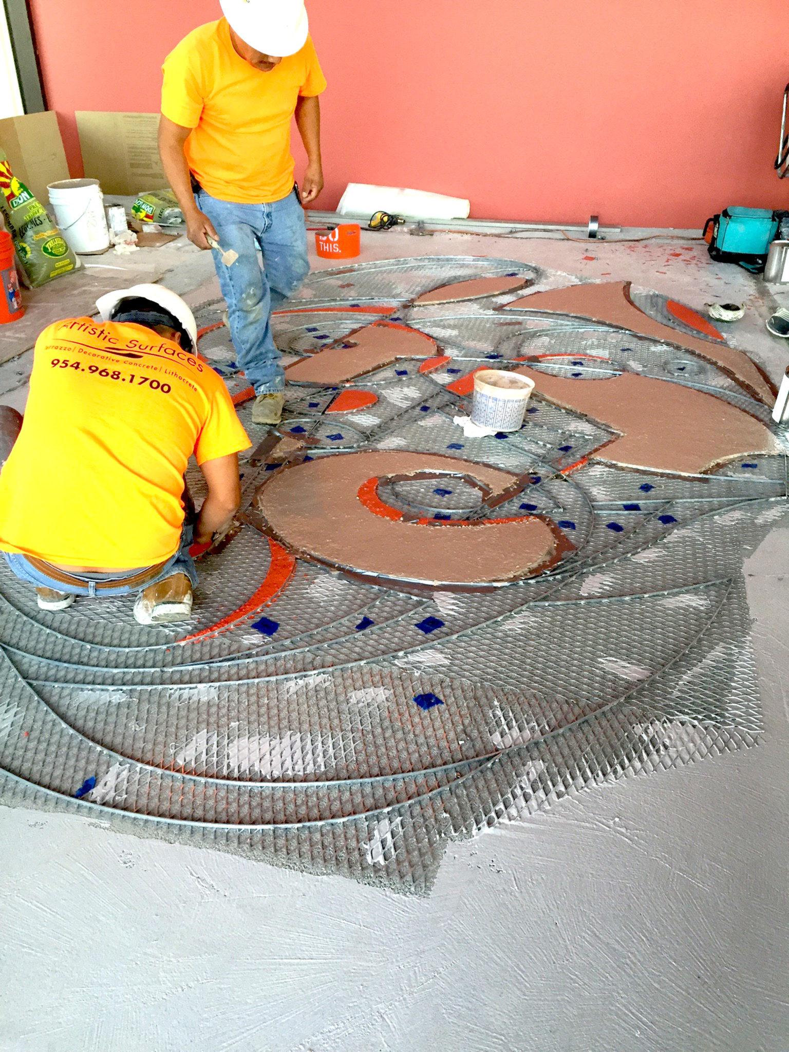Terrazzo Floor Public Art 9 Design By Georgeta Fondos