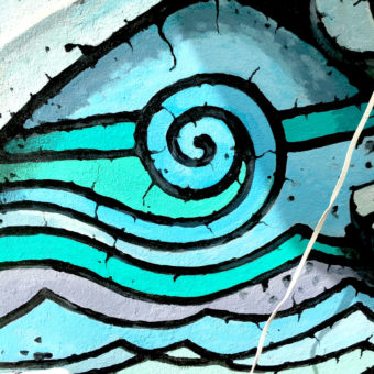 Mural Design. South Florida Muralist. South Florida Mural Artist Georgeta Fondos. Georgeta Fondos' Hand-Painted Murals. Custom Murals. Mural Art. Murals on Wall. Wall Murals. Art Deco Public Mural FISH STORY #2. Mural Detail. Outdoor Mural. Fish Mural. Downtown Hollywood Murals Projects DHMP. Hollywood Murals.